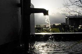 Fontaine dans un vignoble