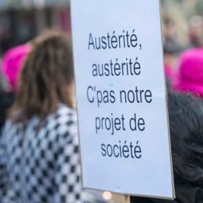 Manifestation contre l'austérité