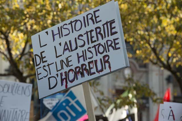 Manifestation contre l'austérié